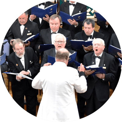 Singing male choir